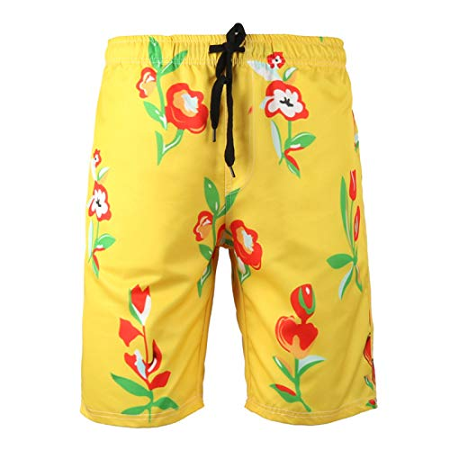 Katenyl Pantalones Cortos Deportivos de Talla Grande a la Moda para Hombre, Ropa de Calle a la Moda, Pantalones Cortos de Cintura elástica cómodos Informales de Secado rápido M