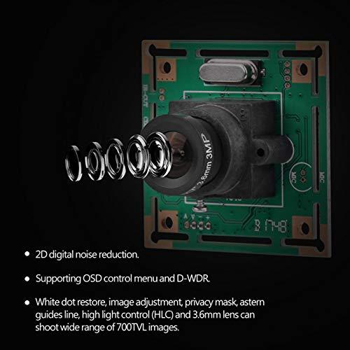 DAUERHAFT Cámara FPV para Drones Peso Ligero Control de luz Alta Mini cámara FPV Restauración de Puntos Blancos Compatible con menú de Control OSD y D-WDR