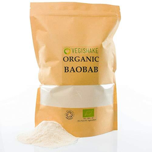 Organic Baobab Powder Supplement Vitamin C Digestion Stomach Health Africans Fruit Vegan (250g)