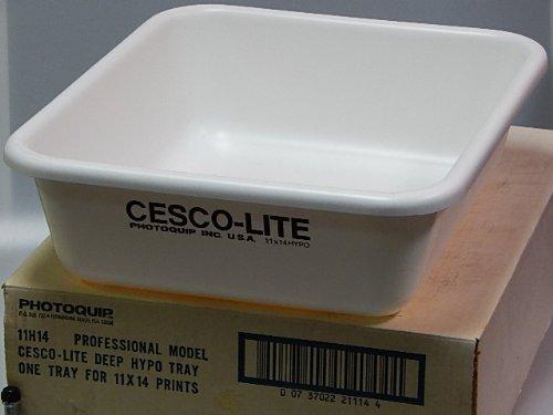 "Cesco Plastic Print Developing Tray with Flat Bottom, 11x14x5"" Deep"