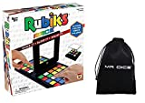 Rubik's Race Cube Board Game for Kids Bundle with Mr Dice Drawstring Bag