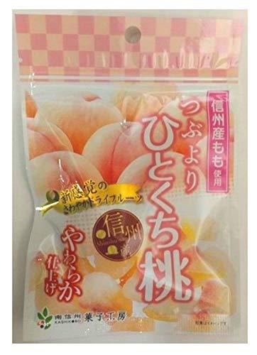 南信州菓子工房 つぶよりひとくち桃 24g ×10袋
