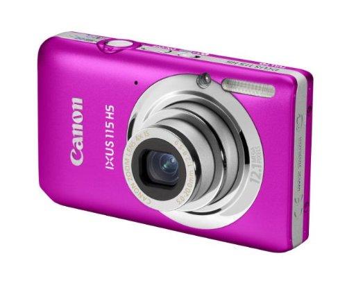 Canon Ixus 115 HS Fotocamera Digitale 12.1 MP, Rosa