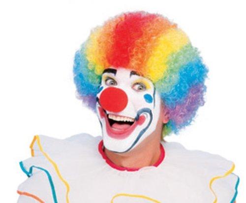 Rubie 's Officieel clown pruik multi, volwassene kostuum - One Size