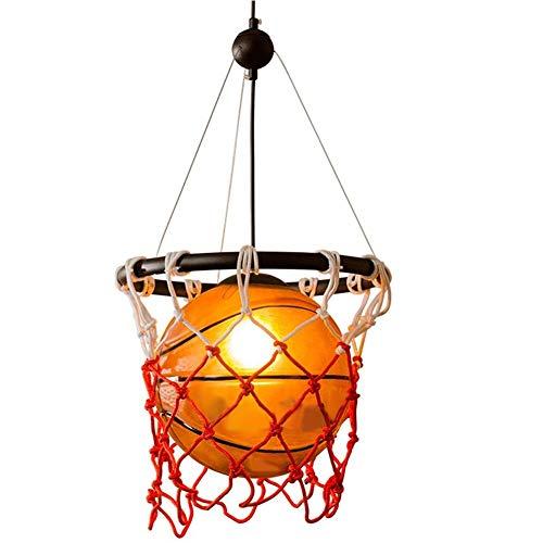 Industriële retro basketbal glazen kroonluchter plafond Fitness storm enkele flagship Iron Art schorsing