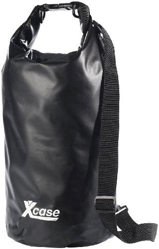 Xcase Wasserdichter Rucksack: Wasserdichter Packsack 16 Liter, schwarz (Schwimmender Seesack)