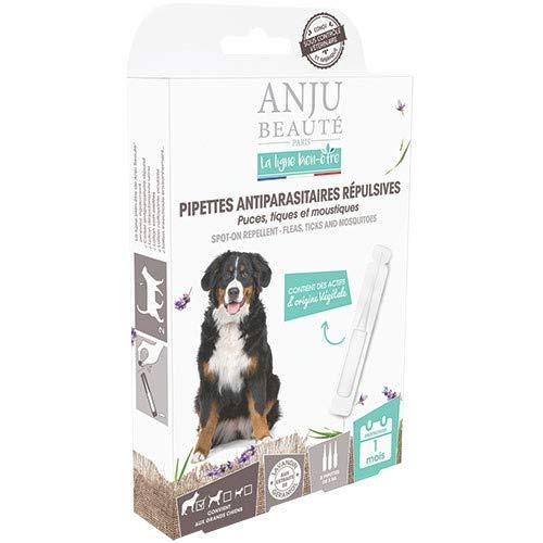 Anju - Pipetas antiparasitarias repelentes de pulgas, tigas/mosquitos x 3 bienes para perros grandes