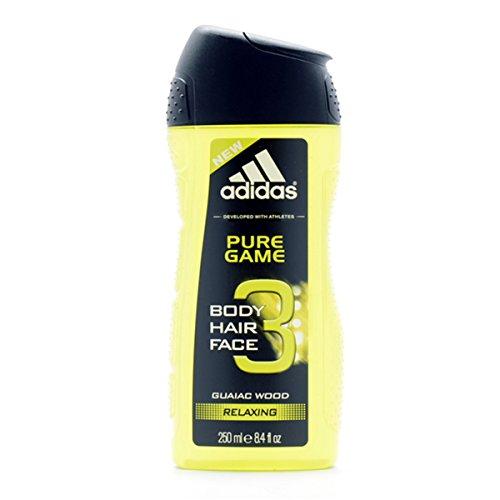 Adidas Pure Game 3 in 1 Gel de Ducha, 250 ml, 1 unidad