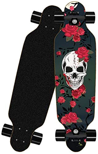 XKstyle Standard Skateboard, 8 Layers Of Maple Deck, Completed The 31-inch Cruiser Pro Longboard, Suitable For Old-style Skateboards