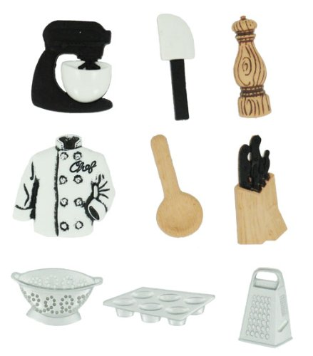 Master Chef - Novelty Craft Buttons & Embellishments by Dress It Up by Jesse James