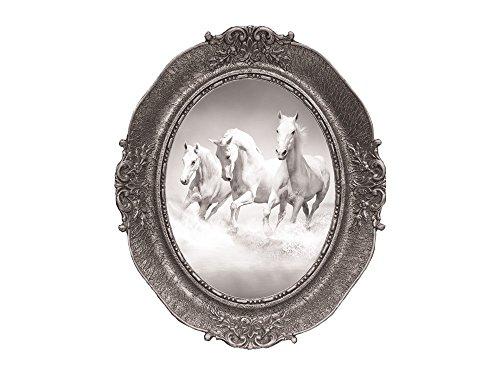 GrazDesign 721034 Muursticker, fotolijst, witte paarden voor kinderkamer, meisje 60x50cm