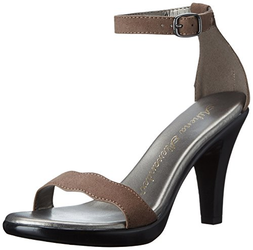 Athena Alexander Women's Lynsey Dress Sandal, Taupe Suede, 8 M US