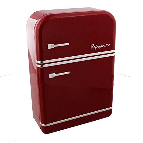 Harvey Makin Lata de Almacenamiento diseño de refrigerador Vintage Rojo