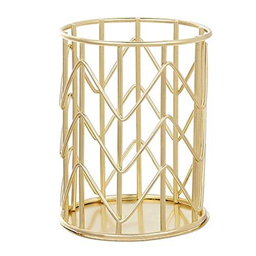 Maquillage brosse de stockage godet cylindrique titulaire cylindre cylindre organisateur cosmétique w style doré