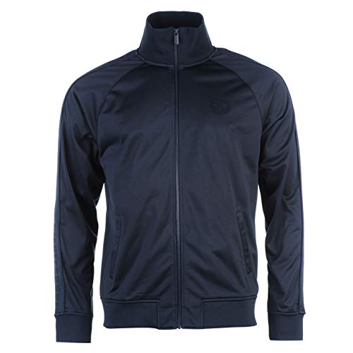 Firetrap Herren Trainingsjacke Sportjacke Freizeit Jacke Taschen Marineblau XL