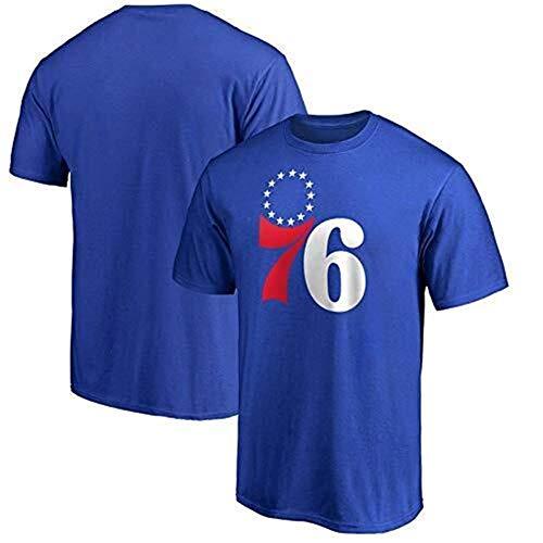 CZLSD NBA Jersey Philadelphia 76ers Joel Embiid Camiseta de Manga Corta Baloncesto Deportes Traje de Bola Impresa Suelta Jersey (Color : Blue, Size : XL)