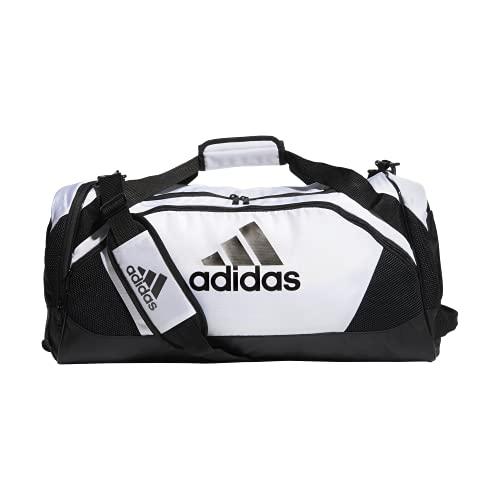 adidas Bolsa esportiva média Team Issue II, branca, tamanho único