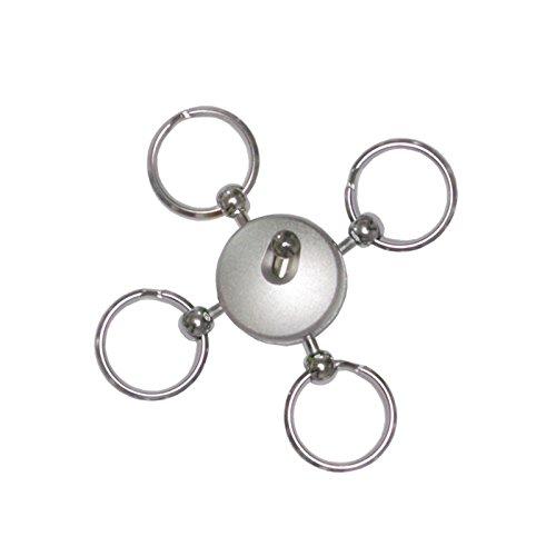 Wedo 26254554 Schlüsselhalter (aus vernickeltem Metall, rund, 4 abtrennbare Schlüsselringe, 1,5 cm Durchmesser) silber