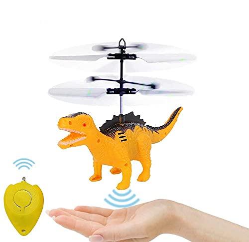 Toy Helicopter Indoor Flying Toy - Helicóptero teledirigido para niños, dinosaur Toy