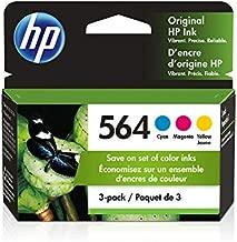 HP 564 | 3 Ink Cartridges | Cyan, Magenta, Yellow | CB318WN, CB319WN, CB320WN