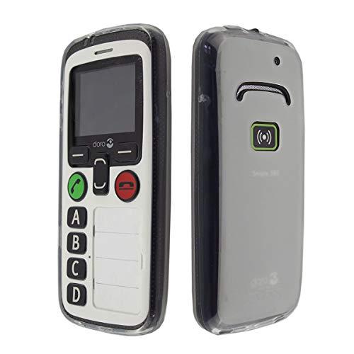 caseroxx TPU-Hülle für Doro Secure 580 / 580IUP, Handy Hülle Tasche (TPU-Hülle in weiß-transparent)
