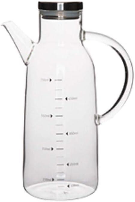 Oil bottle household kitchen large capacity Free shipping New pot oil trust glass so set
