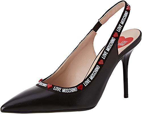 Love Moschino Damen Scarpad.spillo95 Nappa Pumps, Schwarz (Black Soft 000), 39 EU