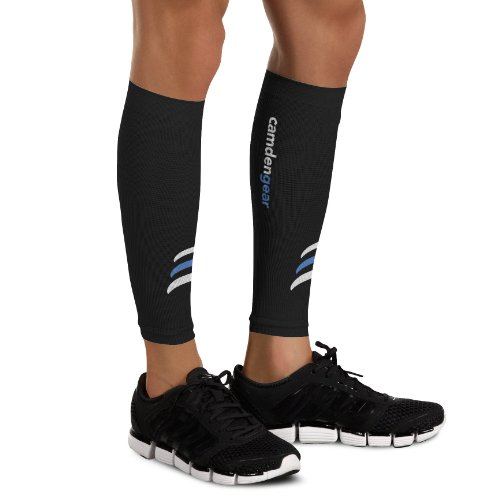 Camden Gear Calf Compression Sleeve by Helps Shin Splints. Leg Socks for Men and Women - XL
