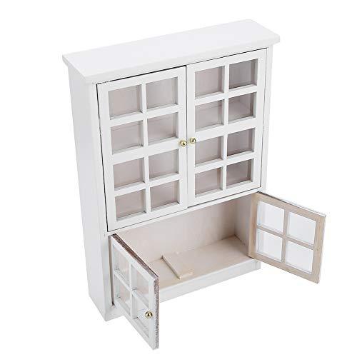 Modelo de estantería de madera Accesorios de muebles Casa de muñecas en miniatura Escena artesanal Modelo de escena Artesanía en miniatura Muebles de casa de muñecas para casa de muñecas