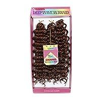 カーリー編組/かぎ針編み/深い波状毛の三つ編み人工毛3 /グループ、3本の短い三つ編み100%,Mediumauburn