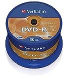 Verbatim VE43548 - DVD-R vírgenes (50 unidades), color plateado