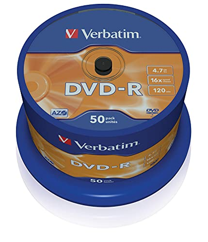 Verbatim 43548 DVD-R, 4.7 Gb, 16x, Spindle, 50 Pezzi