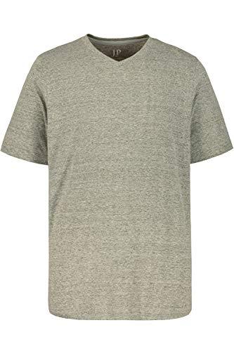 JP 1880 Herren große Größen bis 8XL, T-Shirt aus Jersey, Basic, V-Shirt, Reine Baumwolle, V-Ausschnitt, grau-Melange 3XL 702415 12-3XL