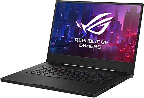 """ASUS ROG Zephyrus 15.6"""" FHD 144Hz Refresh Rate IPS Gaming Laptop, NVIDIA GeForce GTX 1660 Ti, i7-9750H up to 4.5GHz, 16GB DDR4, 1TB PCIe SSD, Per-Key RGB Backlit Keyboard, Windows 10 Professional"""