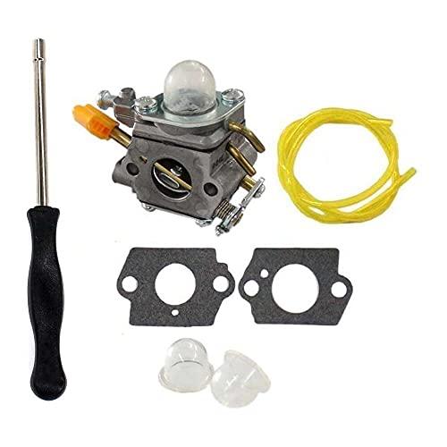 Gmasuber Carburador con kit de herramientas de ajuste destornillador para Ryobi RY29550 RY30530 RY30550 RY30570 RY30931 RY30951 RY30971 C1U-H60 Homelite UT32600 UT32650