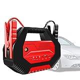 Gettop Nuevo 32000mAh Arrancador de Coches Portatil | LED y Puerto USB | Multifunción 12V/ 24V/ 1000A Jump Starter para Todo Vehículo de Gasolina o de Diesel - Rojo