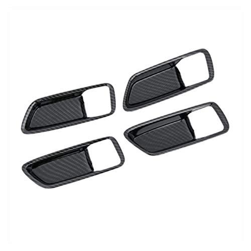 ZXZCV Ajuste para la manija de la Puerta de Toyota Corolla para Partes del tazón Interior 2020 4 * Estilo de Fibra de Carbono