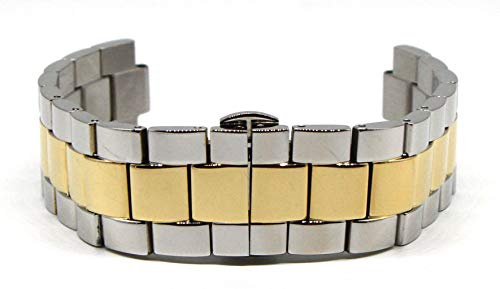Lucien Piccard 20MM Stainless Steel Band Strap Bracelet 7 Inches Silver and Gold Fits CIMA Men