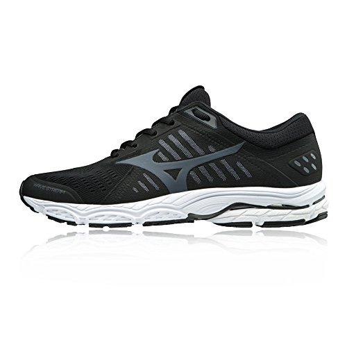 Mizuno Herren Wave Stream Sneakers, Mehrfarbig (Black/Ombreblue/White 001), 43 EU