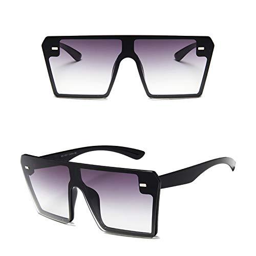 WDMDLZFD Gafas De Sol Cuadradas Planas De Moda 2021, Gafas Graduadas Con Parte Superior Plana, Montura Grande, Gafas De Sol Cuadradas De Ojo De Gato Para Hombres, Mujeres, Sombras, Protección Uv (B)