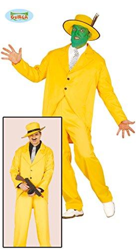 gelber Gangster Anzug Karneval 20er Jahre Motto Party Kostüm für Herren Gr. M - L, Größe:L