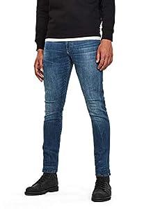 G-STAR RAW Herren 3301 Deconstructed Skinny Jeans, Blau (medium Indigo Aged 8968-6028), 40W/34L