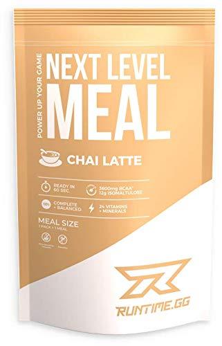 Runtime Meal - Chai Latte | Vollwertiger Mahlzeitersatz, lange Sättigung & Leistungsfähigkeit | 24 Vitamine & Mineralien | 1 Portion - 150g