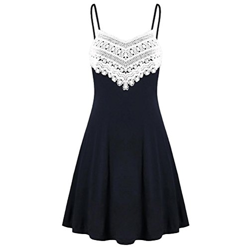 VEMOW 2018 Elegante Damen Frauen Crochet Spitze Backless Mini Slip Kleid Leibchen Sleeveless...