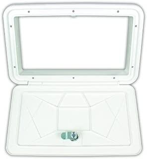 JR Products ZE102-A Polar White Large Key Lock Multi-Purpose Access Hatch