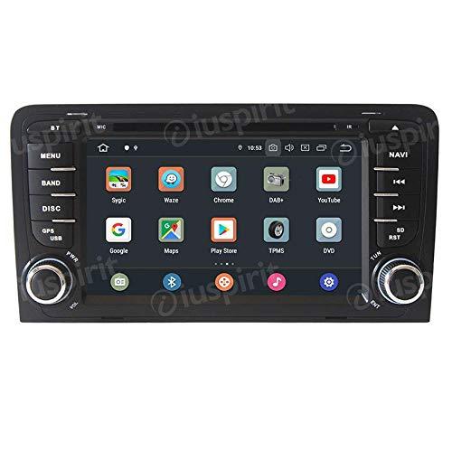 ANDROID 10 GPS DVD USB SD WI-FI Bluetooth autoradio 2 DIN navigatore compatibile con Audi A3 / Audi S3 2002, 2003, 2004, 2005, 2006, 2007, 2008, 2009, 2010, 2011