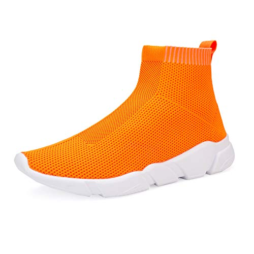 WXQ Women's Athletic Walking Shoes Lightweight Fashion Sneakers Breathable Running Shoes Orange 39