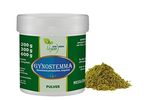 VITAIDEAL VEGAN® Gynostemma Pulver 300g rein natürlich ohne Zusatzstoffe inklusive Messlöffel