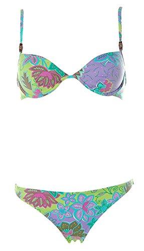 Borabora Damen Softschalen Bügel Bikini Retro Print Bunt 38