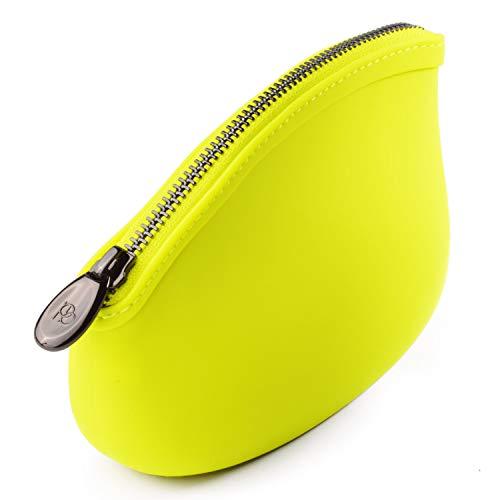 Pudinbag メイク 化粧ポーチ バッグ レディース 防水 ウォータープルーフ ヴィーガン 10色 (レモン)
